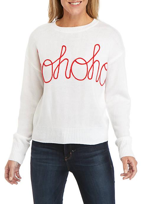 Joyland Long Sleeve Ho Ho Ho Christmas Sweater