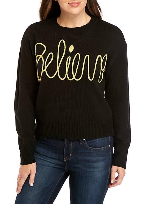 Joyland Long Sleeve Christmas Believe Sweater