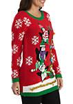 Long Sleeve Christmas Penguins Sweater