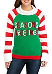 Long Sleeve Seasons Greetings Cowl Neck Sweater