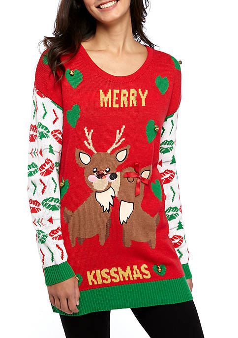 Joyland Long Sleeve Merry Kissmas Sweater
