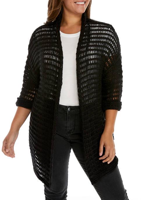 Plus Size Shawl Collar Cardigan