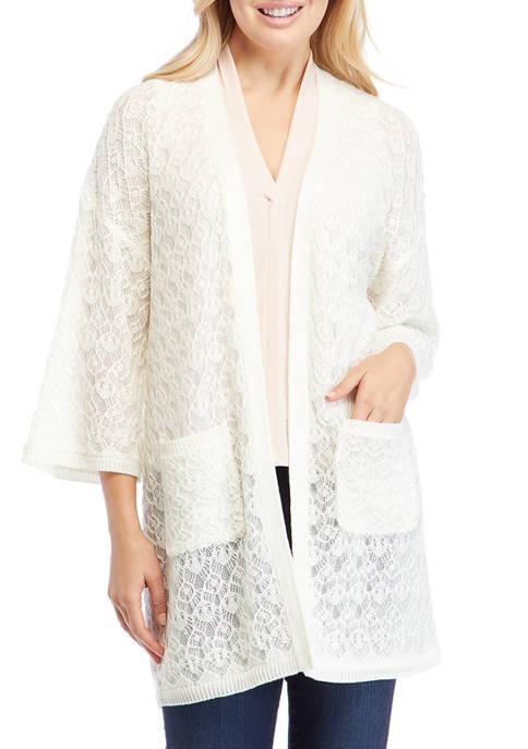 Studio Womens Textured Sweater