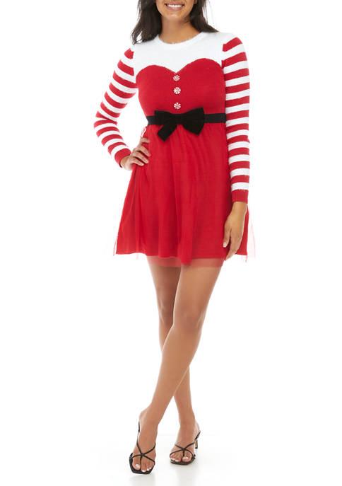 Joyland Long Sleeve Tulle Skirt Skater Dress