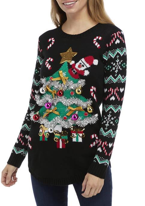 Joyland Womens Christmas Tree Sweater