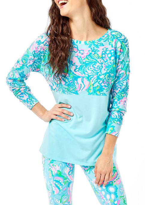 Lilly Pulitzer® Womens Color Block Finn Top
