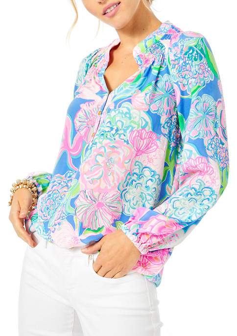 Lilly Pulitzer® Womens Elsa Peasant Top