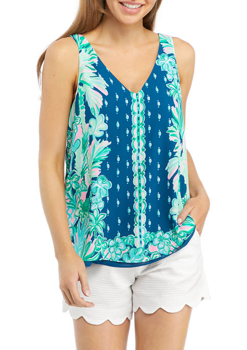 Lilly Pulitzer® Womens Floral Reversible V-Neck Tank