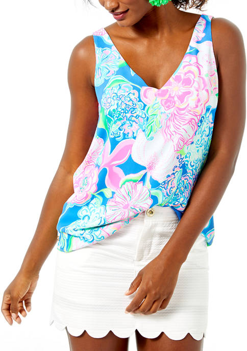Lilly Pulitzer® Womens Florin Reversible Sleeveless V-Neck Tank