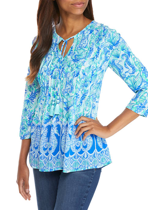 Lilly Pulitzer® Womens 3/4 Sleeve Tunic Top