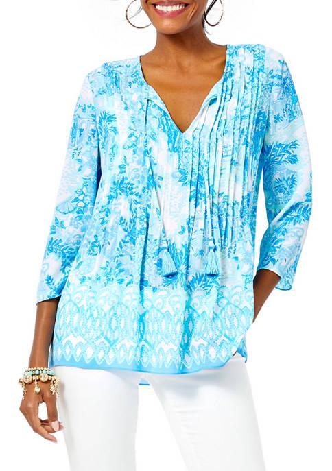 Lilly Pulitzer® Womens Marilina Print Woven Tunic
