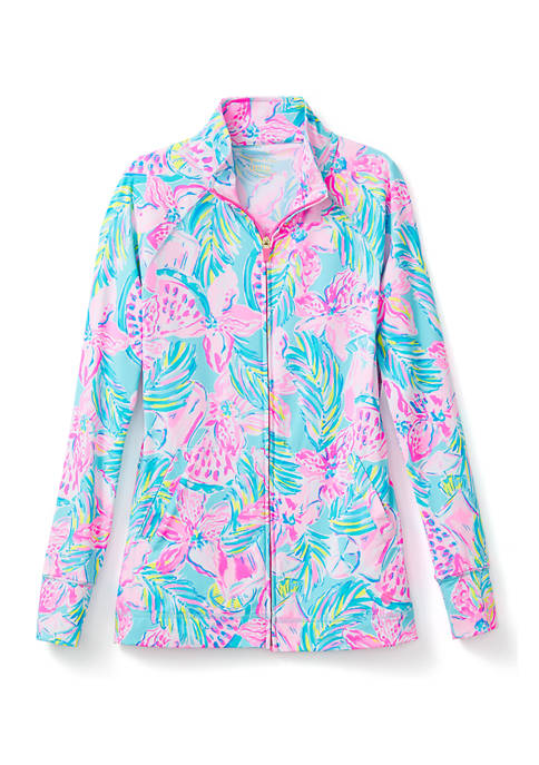 Lilly Pulitzer® Womens UPF 50+ Luxletic Hadlee Zip-Up