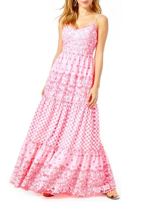 Lilly Pulitzer® Womens Kyla Tiered Maxi Dress