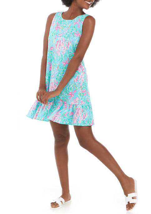 Lilly Pulitzer® Womens Sleeveless Floral Flounce Dress