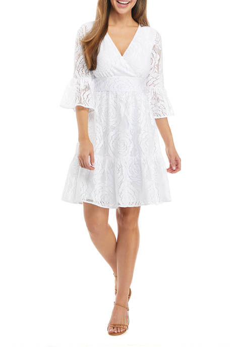 Lilly Pulitzer® Cecilia Lace Flare Sleeve Dress
