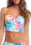 Paint the Garden Bustier Swim Top