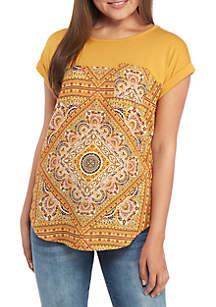 Jolt Short Sleeve Knit to Woven T Shirt