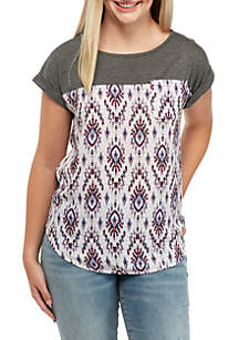 Knit Woven Top