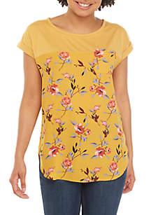 Jolt Short Dolman Sleeve Floral Top