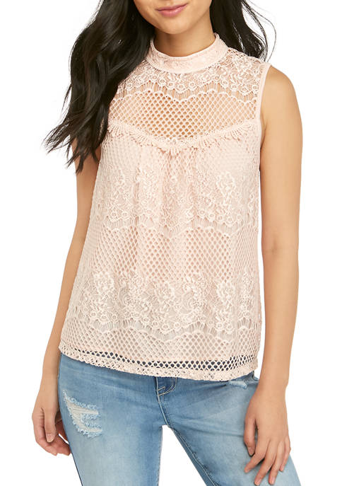 Jolt Allover Lace Tank