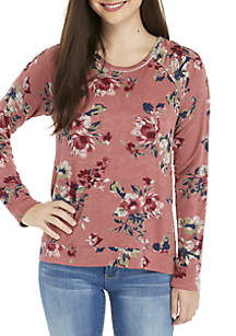 Lace-Up Cold-Shoulder Sweatshirt