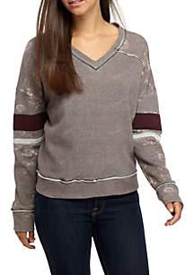 Floral Varsity Sweatshirt