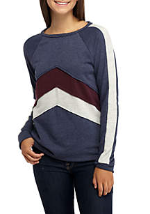 Chevron Washed Sweatshirt