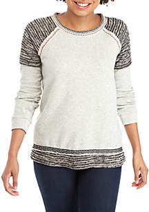 Long Sleeve Textured Knit Top