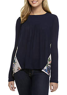 Long Sleeve Smock Top