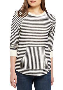 Jolt Kangaroo Pocket Stripe Sweatshirt