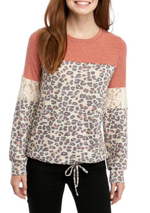 Jolt Juniors Long Sleeve Color Block Sweatshirt