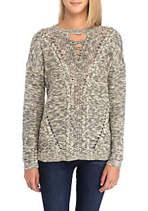 Laced Marled Sweater