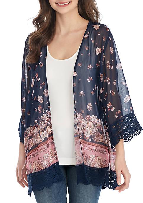 Crochet Hem Kimono