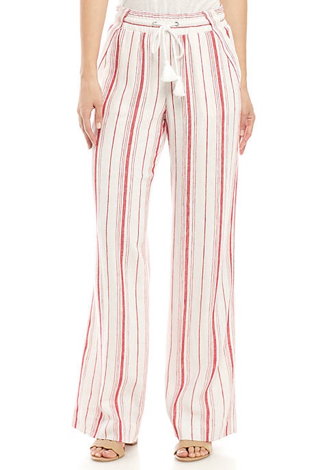 Jolt Tassle Linen Sailor Palazzo Pants