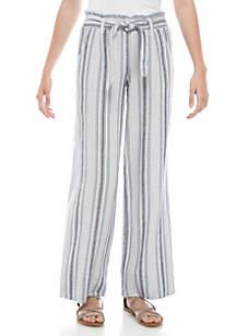 Jolt Paper Bag Linen Stripe Pants