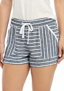 Jolt Drawstring Linen Shorts