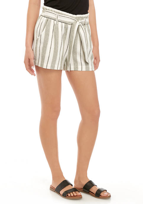 Jolt Juniors Linen Paperbag Shorts