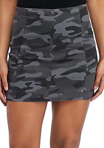 f301db7d4d023 ... Jolt Seamed Camo Mini Skirt