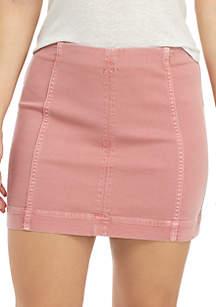 Jolt Seamed Mini Skirt