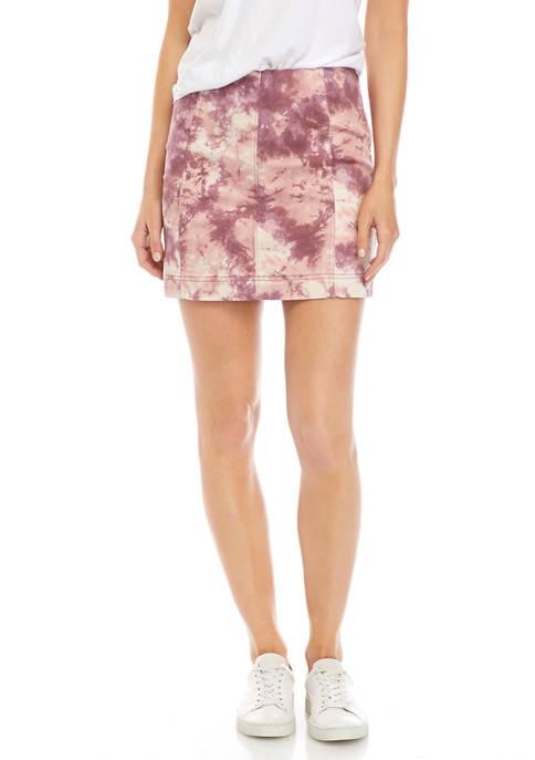 Juniors Seamed Mini Skirt