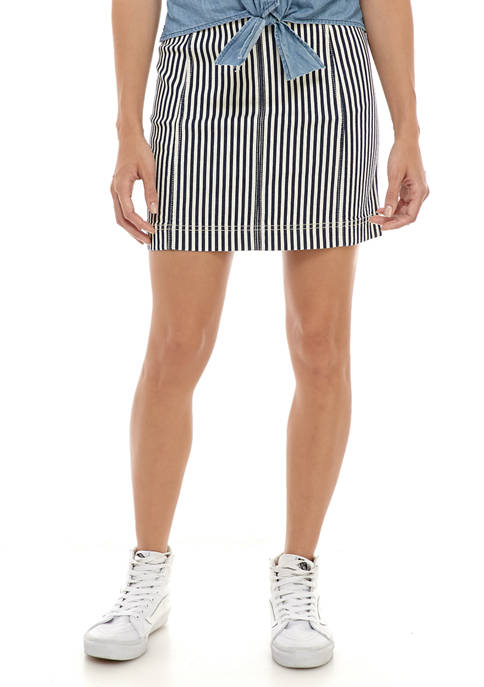 Jolt Juniors Seamed Mini Skirt