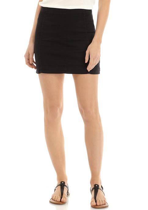 Jolt Juniors Seamed Mini Skirt