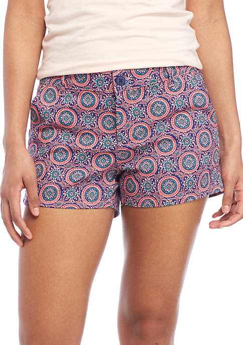 BeBop Deco Medallion Twill Shorts
