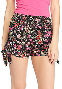 Challis Side Tie Shorts