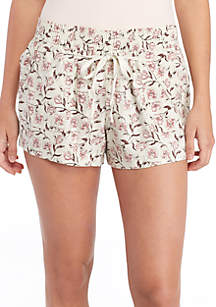 Linen Smocked Waist Shorts