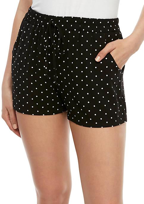BeBop Polka Dot Drawstring Challis Shorts