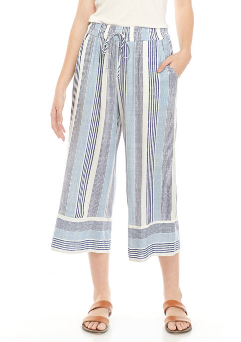 BeBop Juniors Stripe Challis Crop Pants