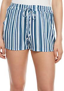 BeBop Stripe Drawstring Challis Shorts