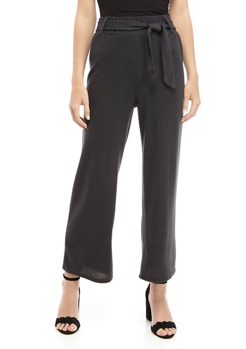 BeBop Belted Hacci Palazzo Pants