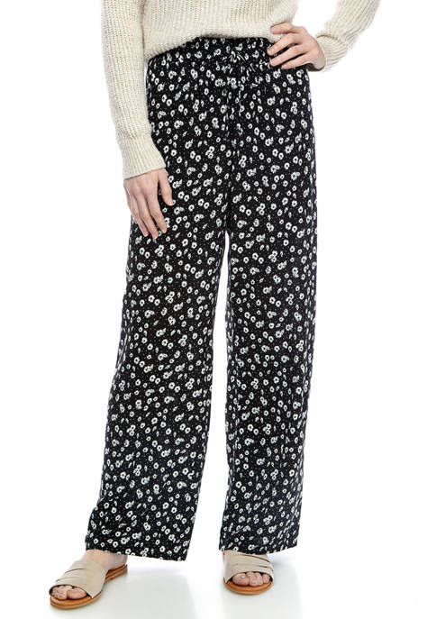 Juniors Printed Challis Pants